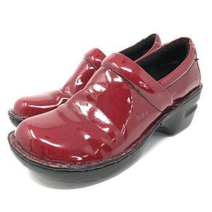 BOC Born Concepts Mules Clogs Red Leather 7